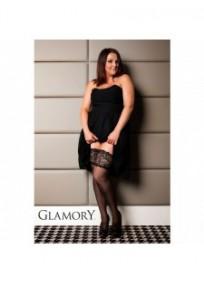 bas autofixant très large jarretière couture grande taille Glamory