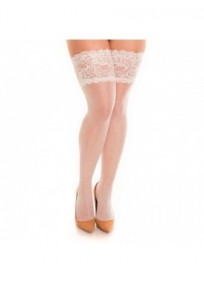 Bas grande taille - bas autofixant coloris champagne glamory comfort 20