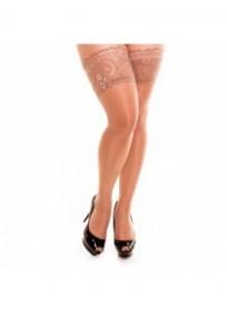 Bas grande taille - bas autofixant coloris make up naturel glamory comfort 20