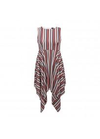 """Robe grande taille asymétrique """"Stripe"""" Lili London - face"""