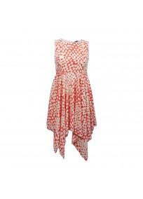 """Robe grande taille asymétrique """"Coral"""" Lili London - face"""