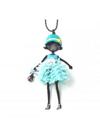 """collier fantaisie grande taille - collier pepette Mena coloris bleu """"les pepettes"""" Lol bijoux"""