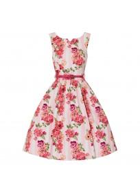 """robe grande taille - robe vintage """"Delta"""" Lindy Bop imprimé """"Bouquet floral"""" (face non porté)"""