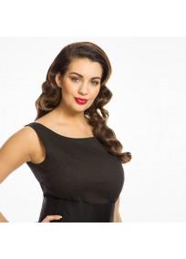 """Robe grande taille - robe noire vintage """"Lana"""" de la marque Lindy bop (face zoom)"""