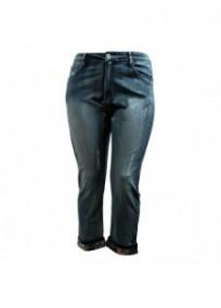 jeans grande taille - jeans boyfriend 7/8ème revers libery (face)