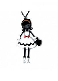 """collier fantaisie grande taille - collier pepette Mariette coloris blanc """"les pepettes"""" Lol bijoux"""
