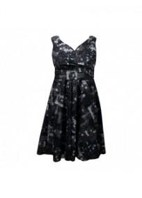 robe grande taille - robe vintage imprimé fleurs Looking glam (face)