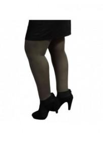 collant coloré grande taille - collant opaque 80 deniers kaki H&Nathalie