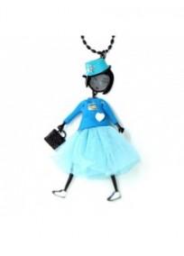 collier fantaisie grande taille - collier pepette Kayla coloris bleu lol bijoux