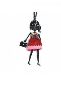 Collier fantaisie grande taille - sautoir Méline rouge de la collection les pepettes lol bijoux