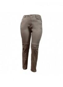 pantalon grande taille - jeans délavé avec surpiqûres Nana Belle coloris beige (face)